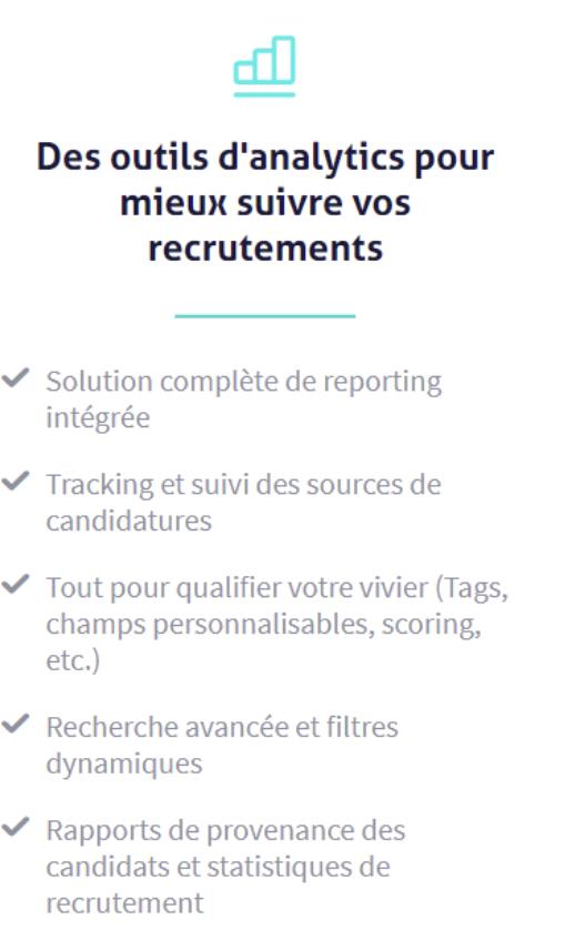 Des outils d'analytics pour mieux suivre vos recrutements